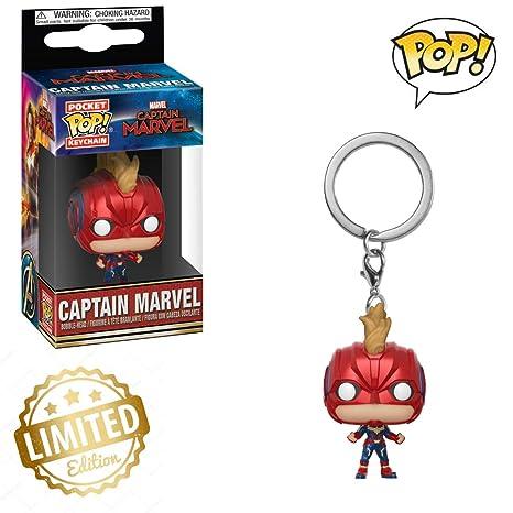 Funko Pop! Llavero Marvel: Capitán Marvel, juguete ...