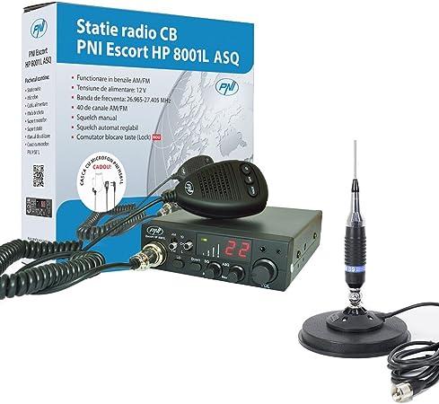 Radio CB PNI Escort HP 8001L ASQ + CB PNI S9 Antena con Base ...