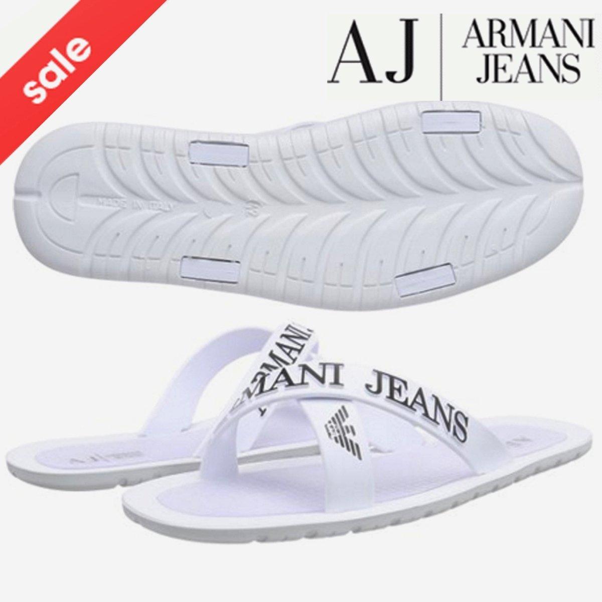b48a2a4e1 BNWT EA7 Emporio Armani Flip Flops Open Toes Eagle Logo Mules Slippers  Sandals Beach Shoes (UK8 EU41)  Amazon.co.uk  Shoes   Bags