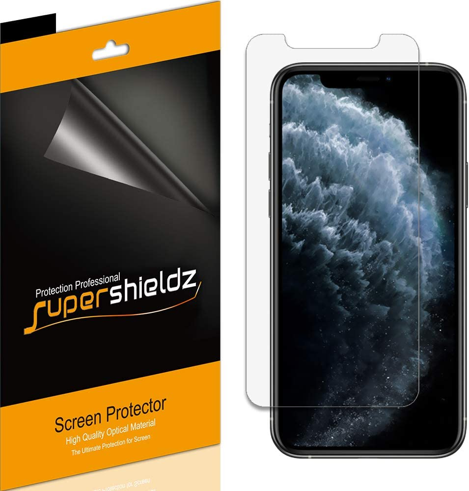 (6 Pack) Supershieldz for Apple iPhone 11 Pro Max and iPhone Xs Max (6.5 inch) Screen Protector, High Definition Clear Shield (PET)