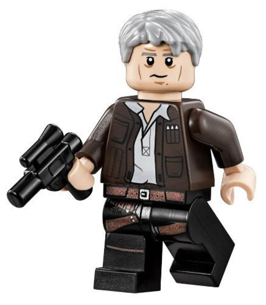 Lego Star Wars Han Solo Minifigure with Blaster
