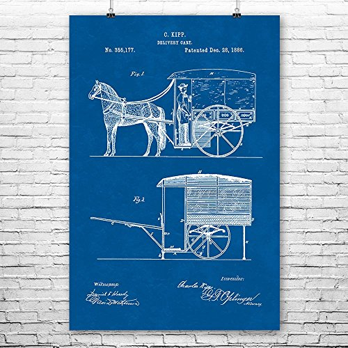 (Horse Drawn Carriage Poster Print, Horse Buggy, Equestrian Gift, Country Western, Horse Lover, Farmer Gift, Rustic Ranch Blueprint (9