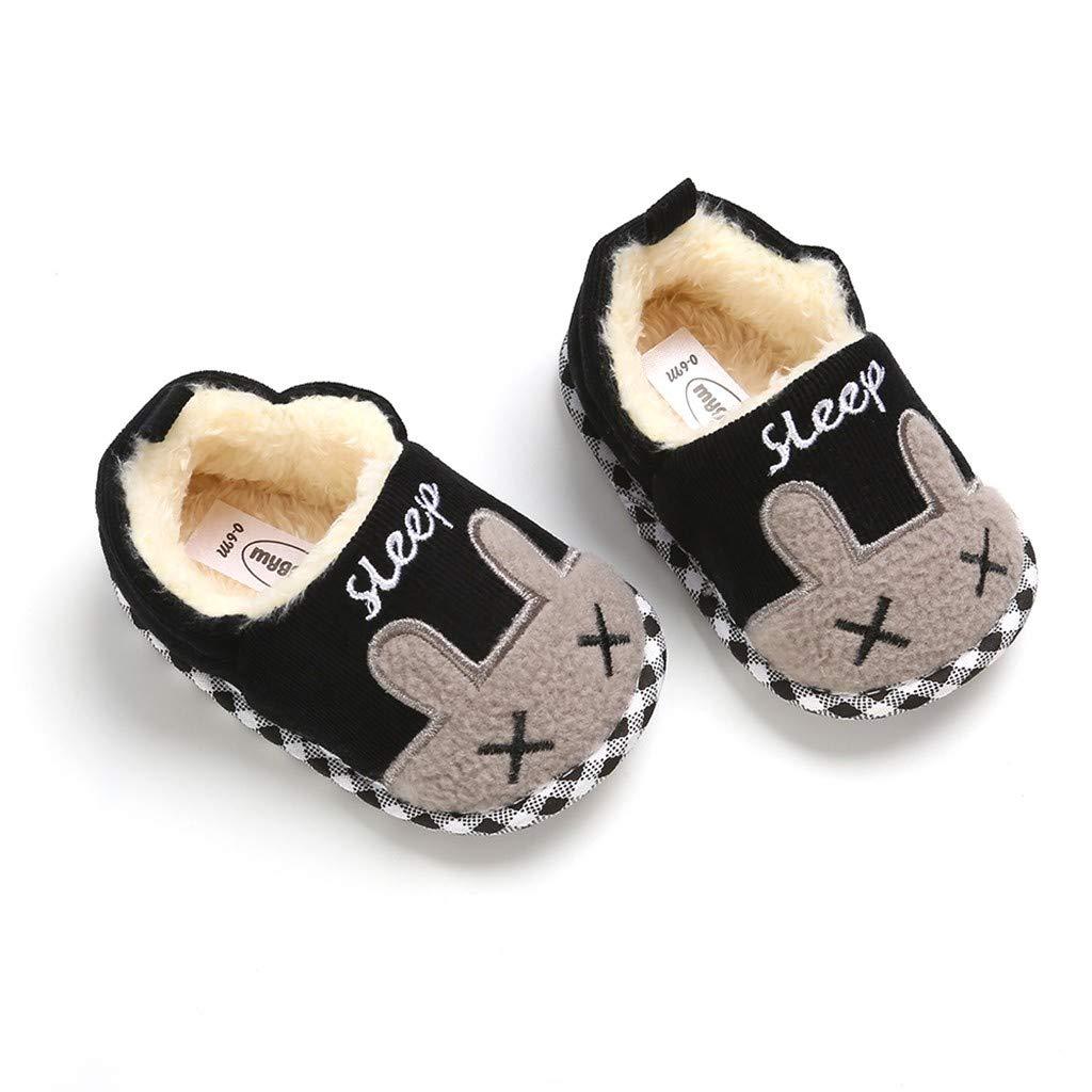 WEXCV Schuhe Kinder Unisex Baby Jungen M/ädchen S/ü/ßes Kaninchen Verdicken Pl/üsch Winter Warme Kleinkind Schuhe Babyschuhe Baumwollschuhe Flache Hausschuhe