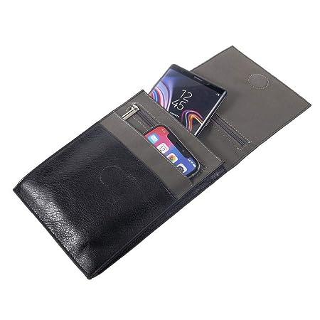 DFV mobile - Etui Kunstleder Tasche Schultertasche für Tablet und Smartphone mit Magnetverschluss und Reißverschlüssen für =>