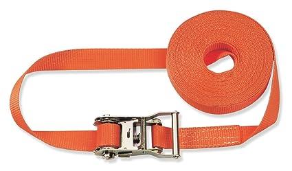 4000 daN, 6 m, 50 mm de ancho Braun Pulpo con hebilla para baca color naranja