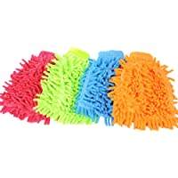 Nrpfell Chenille Cleaning Gloves Gloves high-Quality Non-Scratch Large car wash and More, House Cleaning car wash Gloves, dusting Gloves