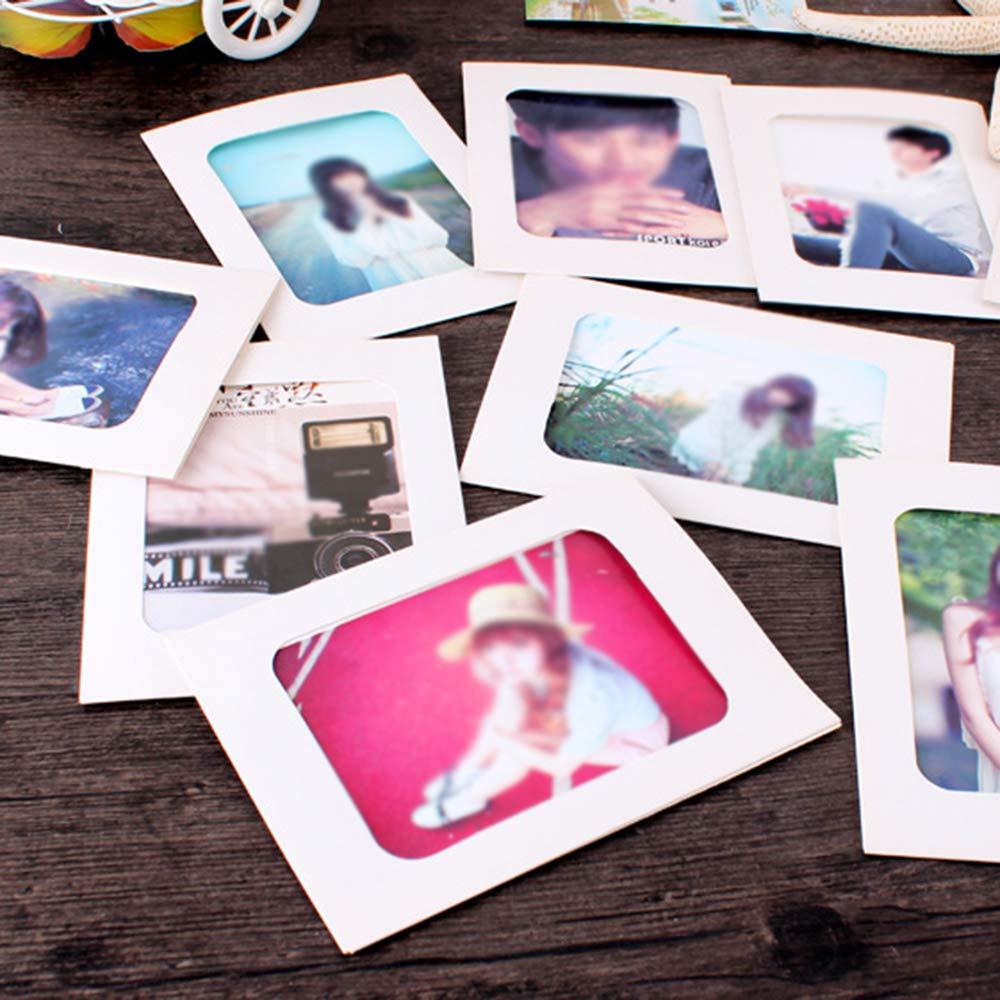 Walmeck 10 Unids//Set Vintage Kraft Papel Marco de Fotos Cuerdas DIY Imagen de Pared Colgando /Álbum Clip de Cuerda Conjunto Decoraci/ón del Hogar