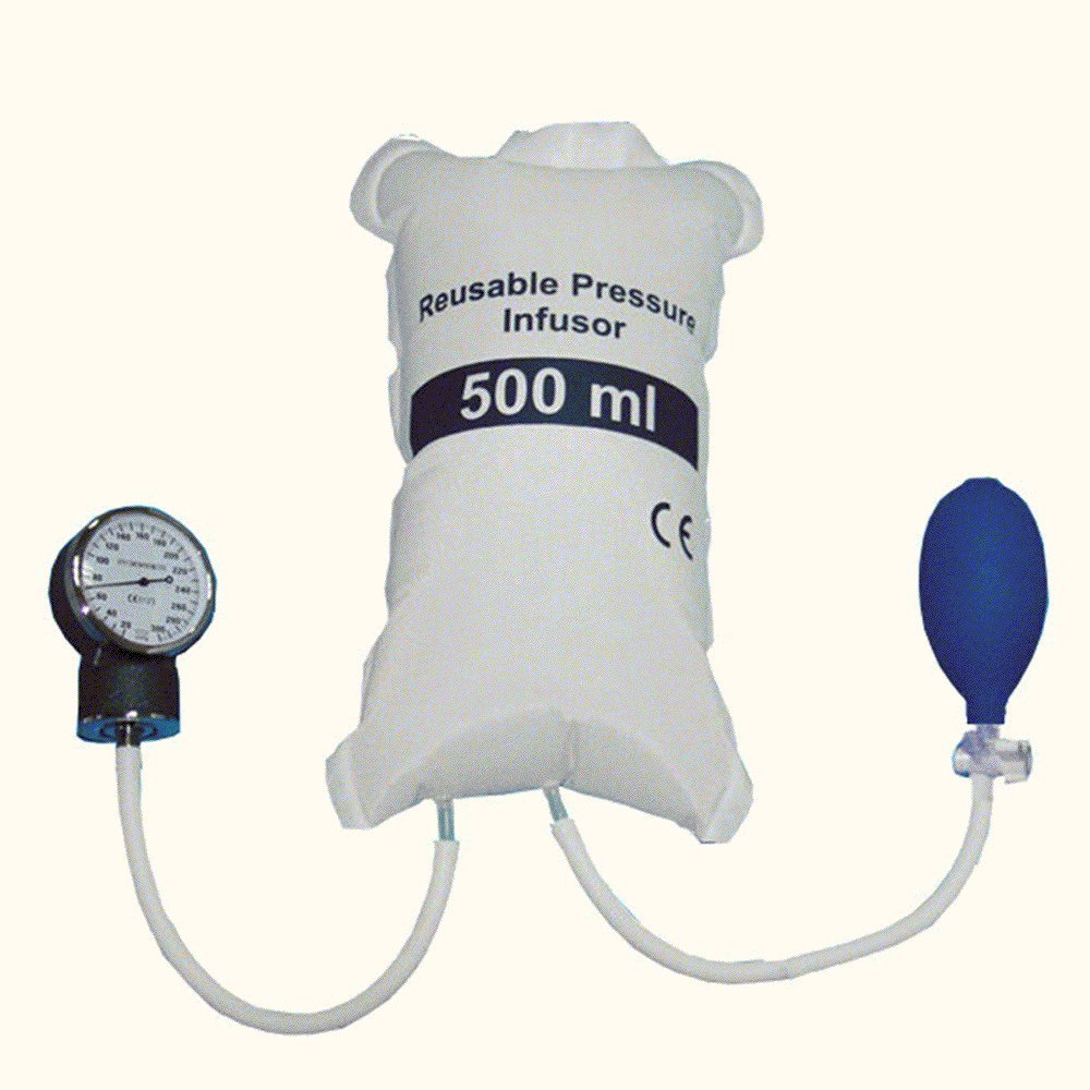 Finlon Blood Pressure Infusion Bag 500ml With Gauge And Hand Pump Ball