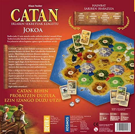 Devir - Catan, juego de mesa (BGCATEUSK) - Idioma euskera: Amazon.es: Juguetes y juegos