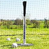Fortress Telescopic Pro Baseball Batting Tee (Stainless Steel/Rubber) – The Best Baseball Training Aid for Big League Hitters [Net World Sports]