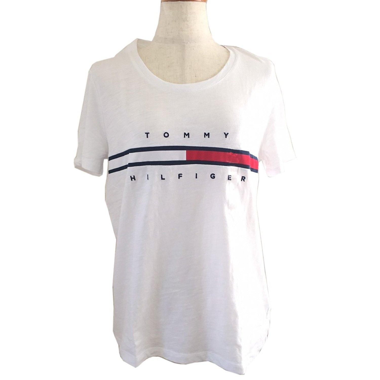 Tommy Hilfiger レディース ロゴTシャツ B07B3GDY8T S