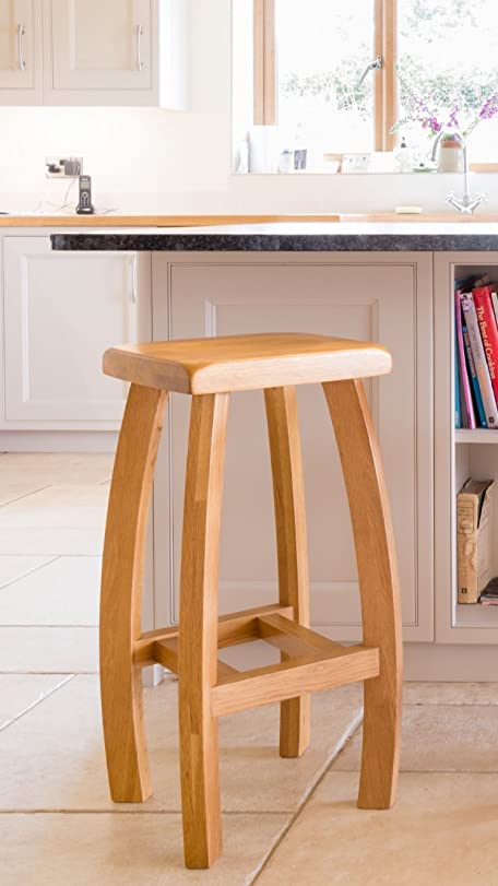 Fully Assembled Solid American Oak Bar Stool - Modern Wooden Bar Stool - Perfect For Kitchens & Fully Assembled Solid American Oak Bar Stool - Modern Wooden Bar ... islam-shia.org