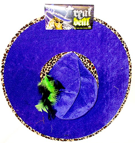 Pony Express Creations Real Deal Purple Pimp Hat with Zebra Trim and Feathers 18 1/2in NIP