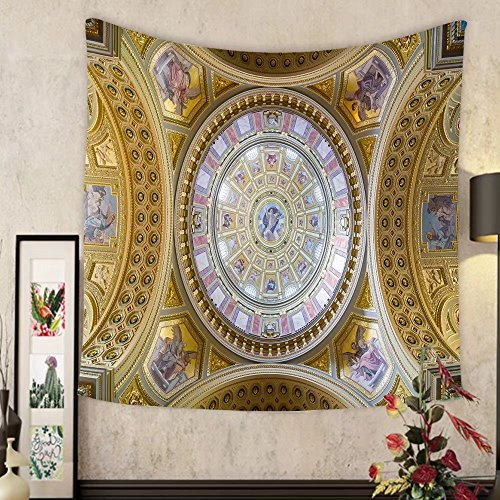 Carolyn J. Morin Custom tapestry budapest hungary february interior of the cupola roman catholic church st stephen s by Carolyn J. Morin