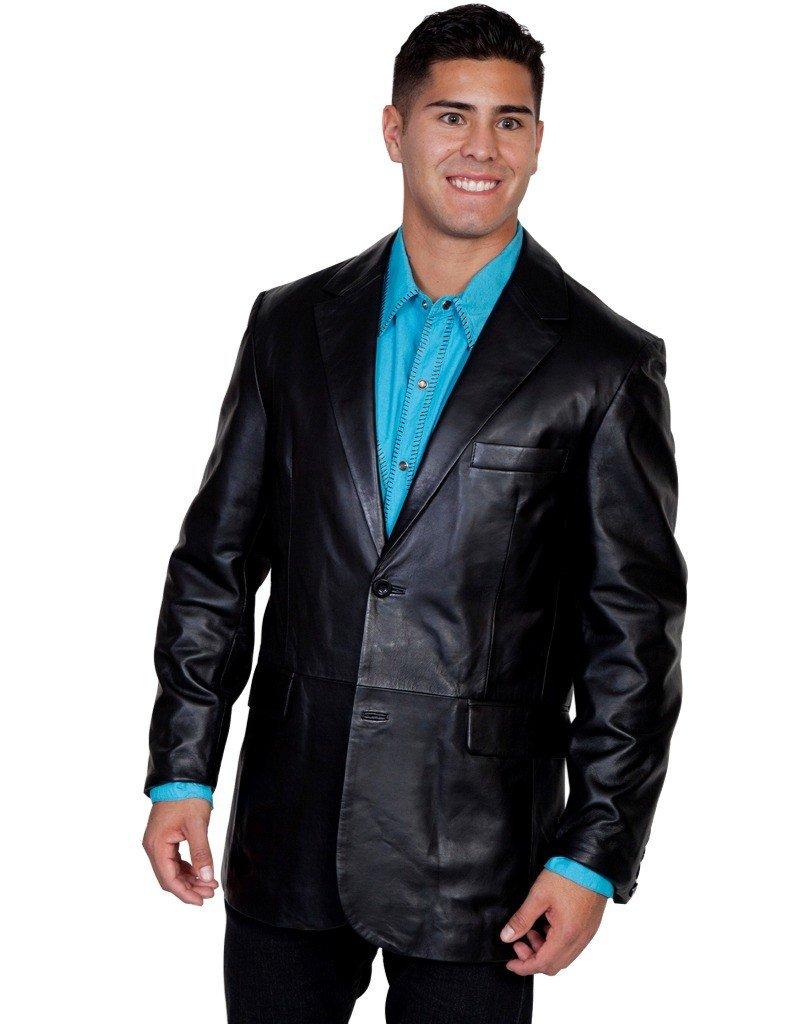 Scully Men's Contemporary Lamb Blazer Black 38 R
