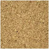 Darice Cork Collection Adhesive Wall Tile, 6-Inch by 6-Inch by 5mm, 4/Pkg