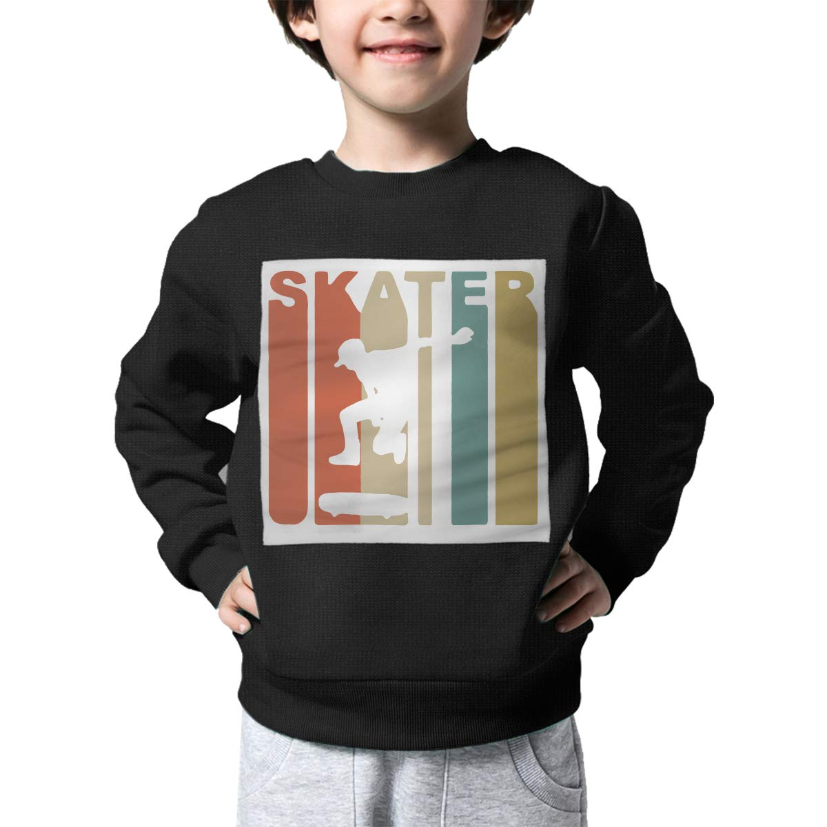 Childrens Retro Skater Skateboarding Sweater Boys Girls Sweatshirt