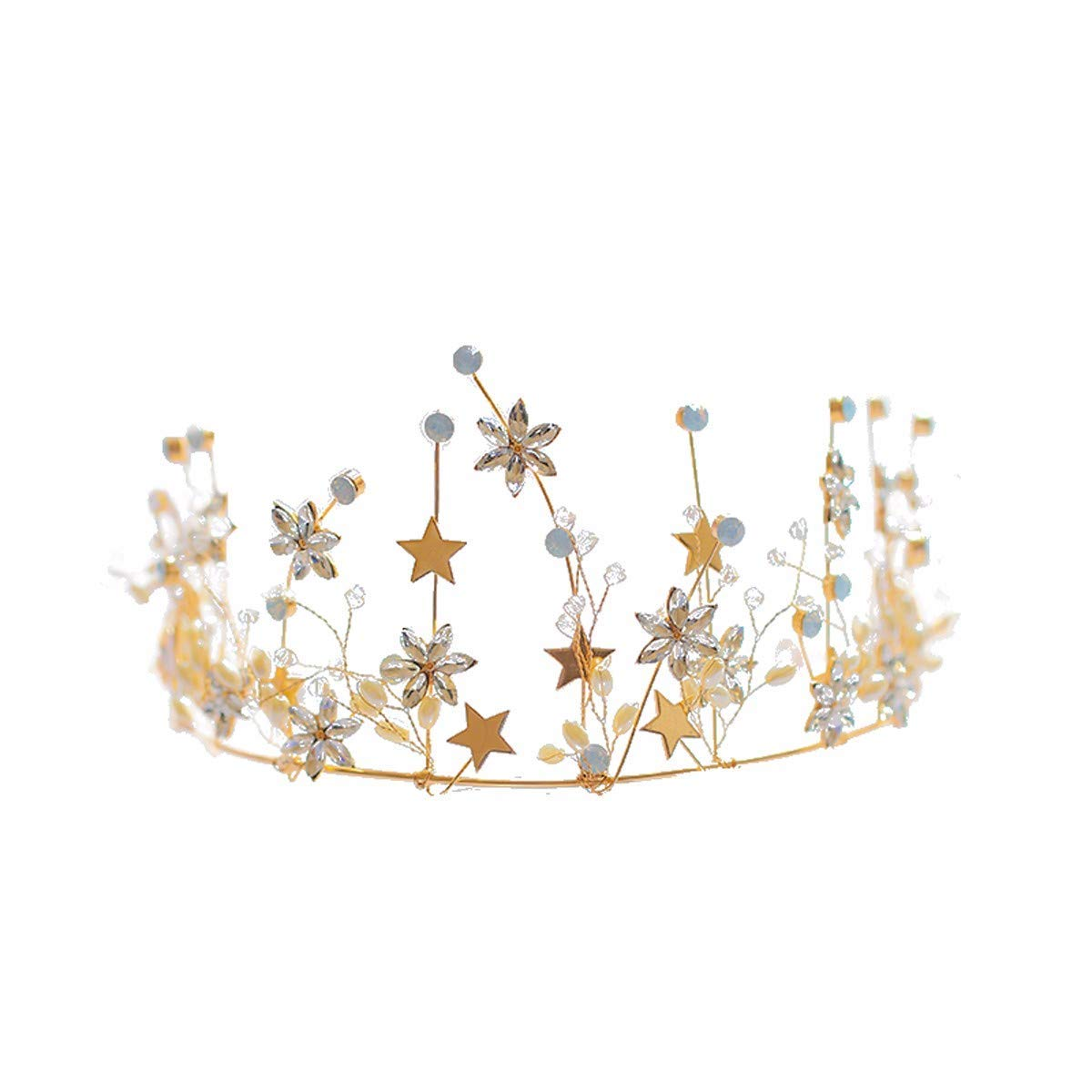 Wedding Crown, Beautiful headdress/Bridal Headwear Golden Crown Hoop Princess Crown Wedding Dress Gown Accessories