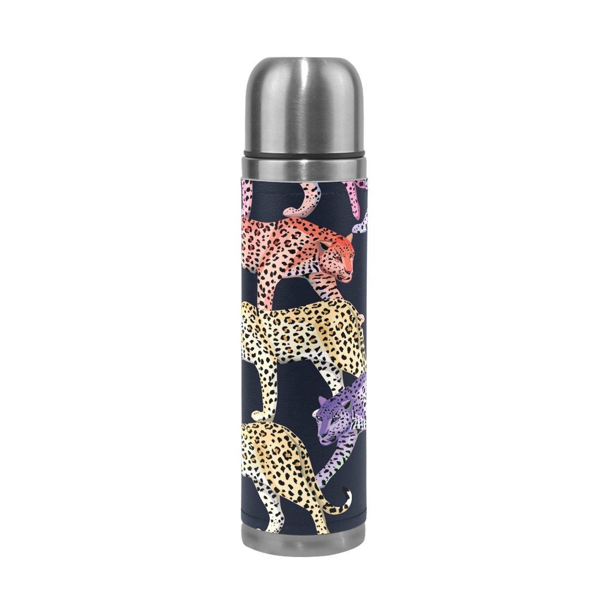 Saobao botella de agua multicolor patrón de leopardo de acero ...
