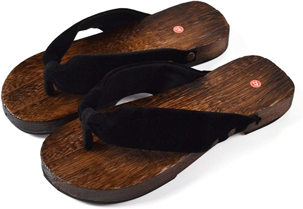 Chanclas Hombres Sandalias Playa Zapatillas de Verano Zapatos de Madera Antideslizantes Casa Bohemia Zuecos Plataforma Zapatillas de ba/ño Chanclas Transpirables Piscina Cosplay