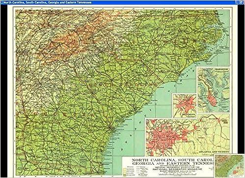 MAP OF] NORTH CAROLINA, SOUTH CAROLINA, GEORGIA AND EASTERN ...