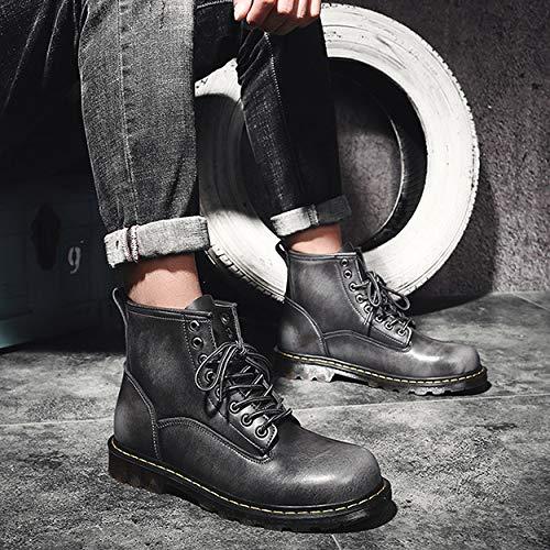 Help Uomo Scarpe Antiscivolo Boots Da Walking Stivali Stivaletti Tooling Grey Moto High Business Jingrong Militari aTqxB5t