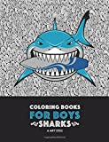 #8: Coloring Books For Boys: Sharks: Advanced Coloring Pages for Tweens, Older Kids & Boys, Geometric Designs & Patterns, Underwater Ocean Theme, Surfing ... Practice for Stress Relief & Relaxation