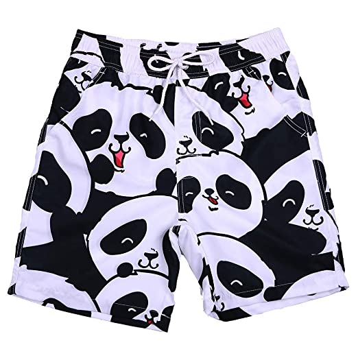 1015fef302 Amazon.com: Men's Volley Board Shorts Cute Panda Print Ultra Quick Dry Mesh  Lining Swim Trunks Casual Shorts Bathing Suits: Clothing