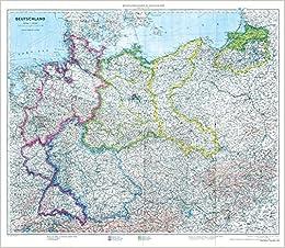 Historische Karte Deutschland Mit Besatzungszonen 1 September