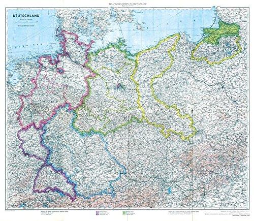 landkarte deutschland 1945 Historische Karte: Deutschland mit Besatzungszonen   1. September