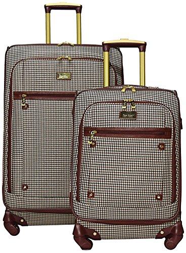 Sets Plaid Luggage (Nicole Miller New York Taylor 2-Piece Luggage Set: 24