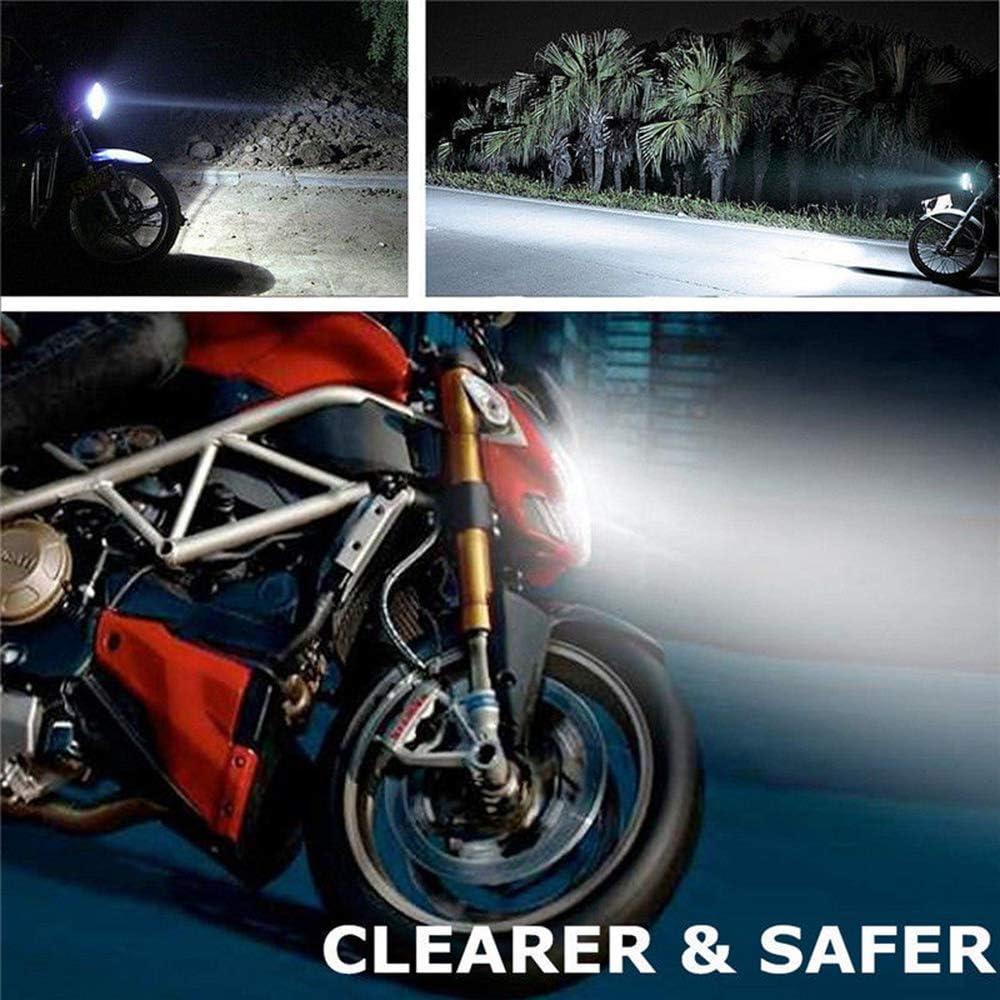 Ajcoflt Motocicleta H4 3030 LED Hi-Lo Beam Faro Principal luz l/ámpara Bombilla 6500K 12-24v