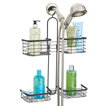 Amazoncom Mdesign Metal Hanging Bath And Shower Caddy Organizer