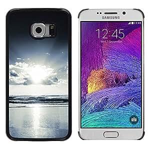 Paccase / Dura PC Caso Funda Carcasa de Protección para - Sea Ocean View Light Bright Sun Cloud Sky - Samsung Galaxy S6 EDGE SM-G925