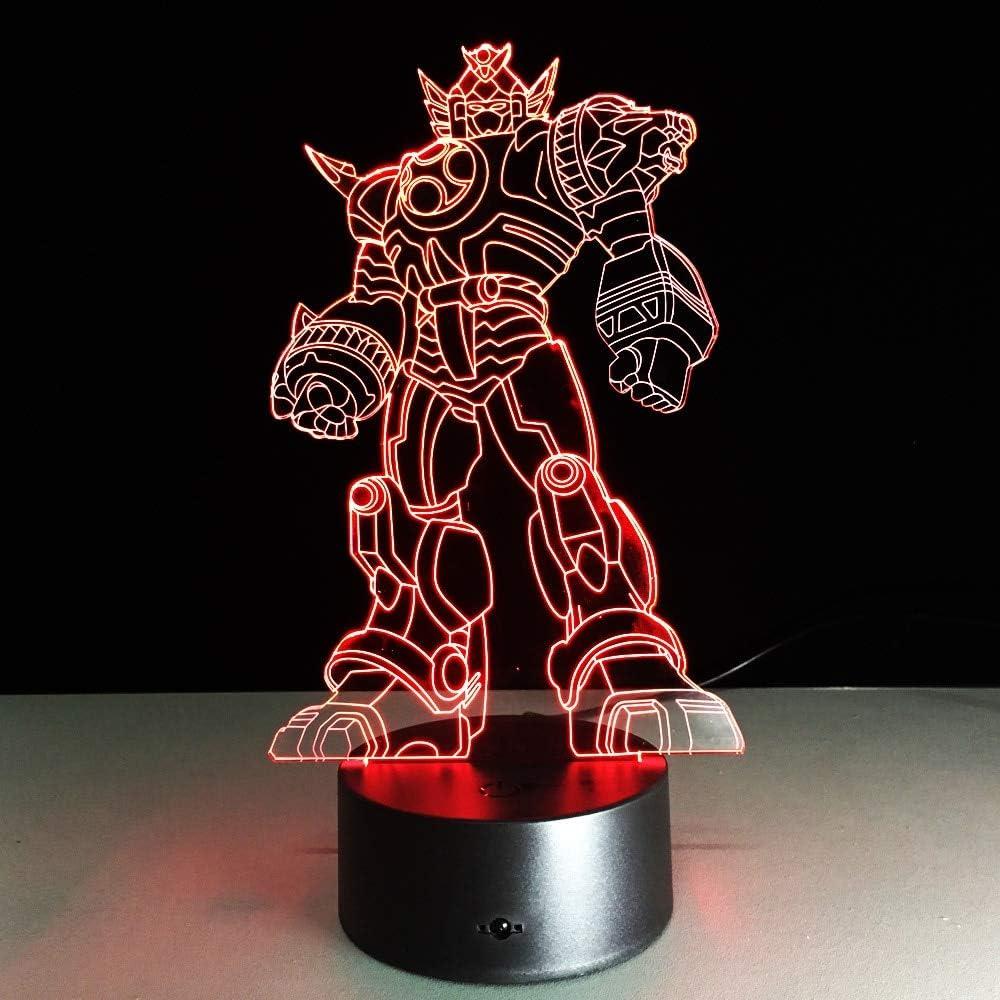 Cool Anime Transformation 3D Table Lamp Kids Toy Gift Kids Toys s Movie Robot LED Night Light Kids Boys Toys