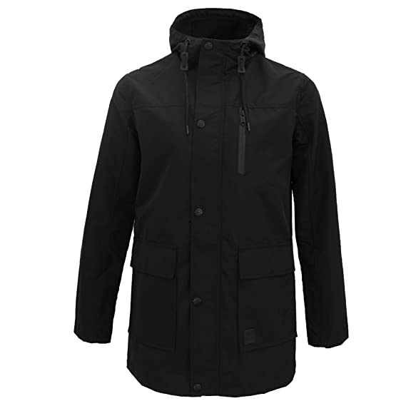 Threadbare Mens Lightweight Parka Longline Fishtail Trench Coat Hood Mac  Jacket Black cc40b6e183