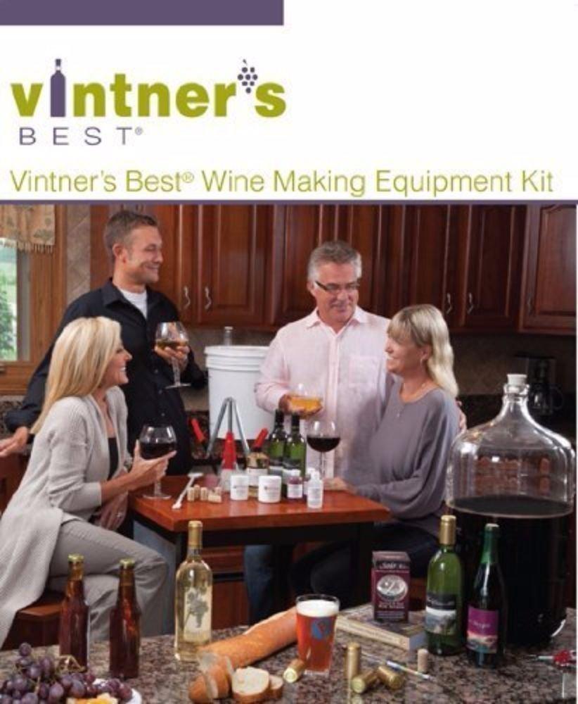 Vintner's Best Deluxe Wine Equipment Kit - 6 Gallon Glass Carboy LD Carlson UX-3S1B-INIR
