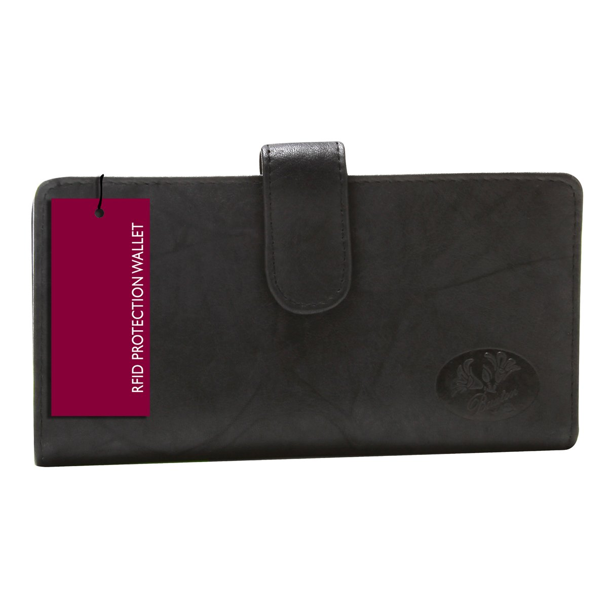 Buxton Heiress Pik Me Up - Checkbook & Credit Card Holder Wallet, Black-rfid Protected by Buxton (Image #1)