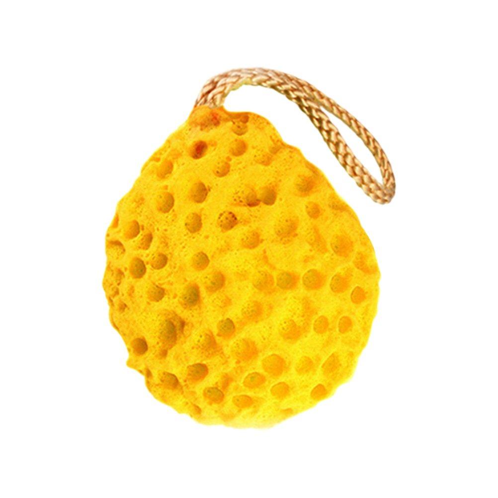 Frcolor Portable Honeycomb, en forma de baño ducha cuerpo exfoliante cara limpieza puff esponja almohadilla bola de baño (amarillo): Amazon.es: Belleza