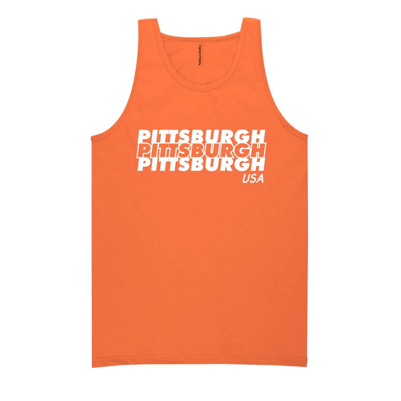 ZeroGravitee Pittsburgh USA Neon Tank Top