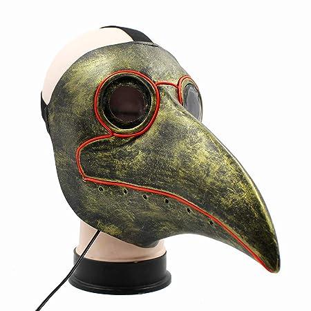 Lixinfushi Máscara médica del Doctor de la Plaga del LED, Traje ...