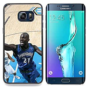 - Timberwolve 21 Basketball' - - Cubierta del caso de impacto con el patr??n Art Designs FOR Samsung Galaxy S6 Edge Plus Queen Pattern