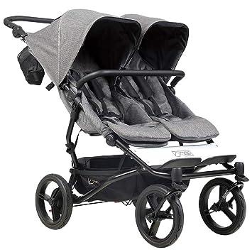Mountain Buggy duet buggy V3 Luxury Collection - Carrito de bebé de dos plazas con bolso cambiador, diseño de espiga: Amazon.es: Bebé