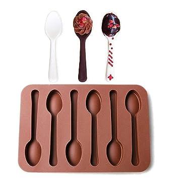 3 unidades moldes para Chocolate, diseño de cucharas – moldfun horno seguro cuchara molde de