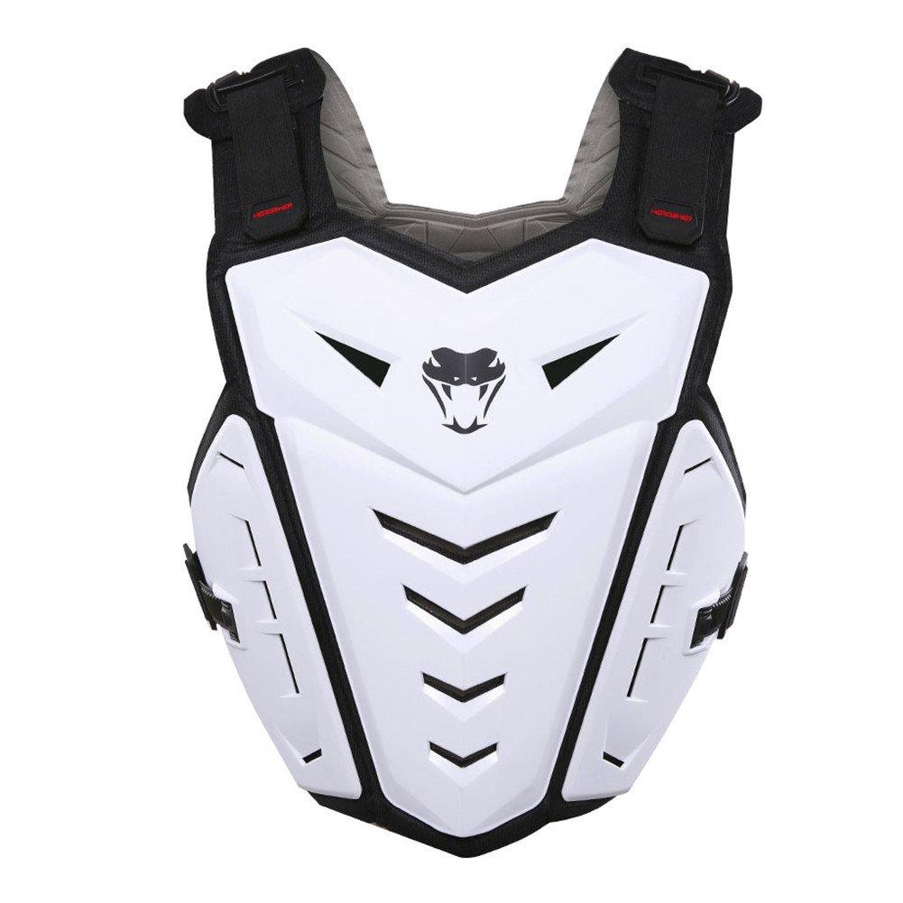 HEROBIKER Motorcycle Armor Vest Adult Street Bike Chest Back Protector Dirt Bike Vest Protector (White) MC1007
