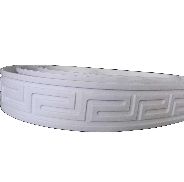 "Zhangbl Flexible Furninture Door Crown Mouldings Trim Home Improvement Focal Point Decor Molding 2"" (5cm) x 115"" x 0.1"""
