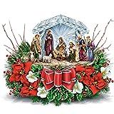 Thomas Kinkade O Holy Night Illuminated Crystal Nativity Scene Table Centrepiece by The Bradford Exchange
