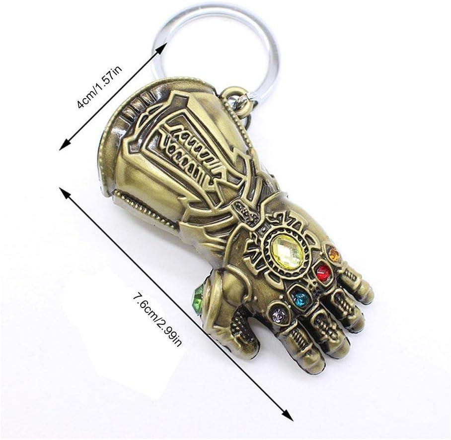 bronze JLZK Avengers 4 Gauntlet Keychain Bronze Golve Thanos Keyring Inficnity War Accessories for Marvel Fans Bronze