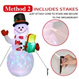AerWo 5ft Christmas Inflatables Blow Up Yard