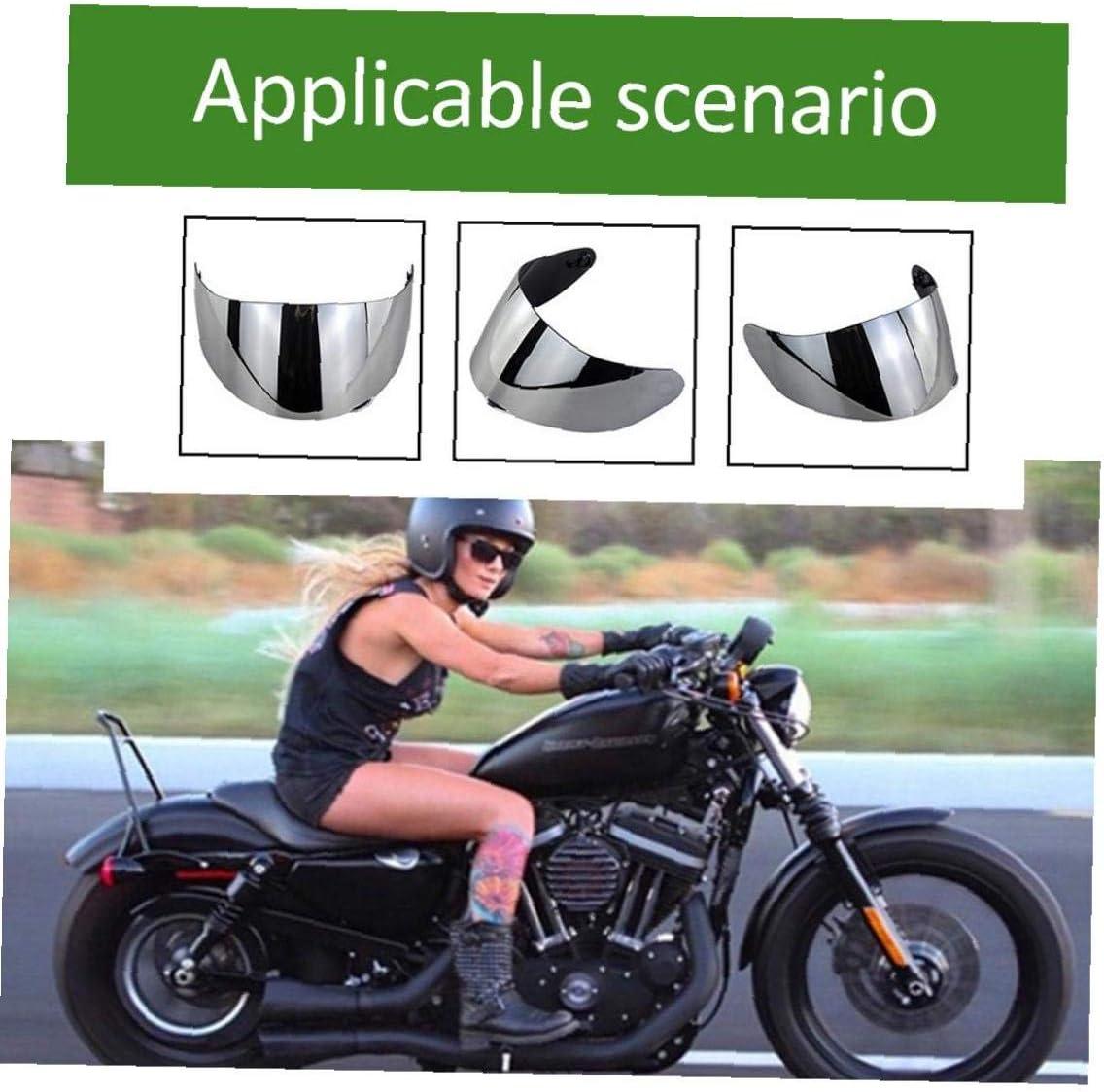 Fashion Helmet Visor Lens PC Motorcycle Helmet Visor Replacement Wind Shield UV Protection Helmet Lens for Helmet Silver